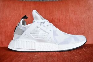 Adidas-Originals-Running-NMD-XR1-Primeknit-BA7233-White-Camo-Bape-Size-8-12-Men
