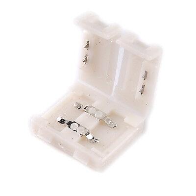 10mm 10x einfarbig LED Strip Leiste Schnellverbinder Adapter Verbinder Stecker