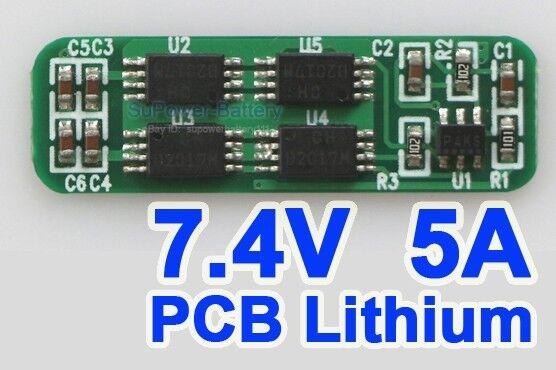 2S Li-ion Lithium 18650 Battery Input Ouput Chip Board PCB PCM 7.2V 7.4V 8.4V 5A