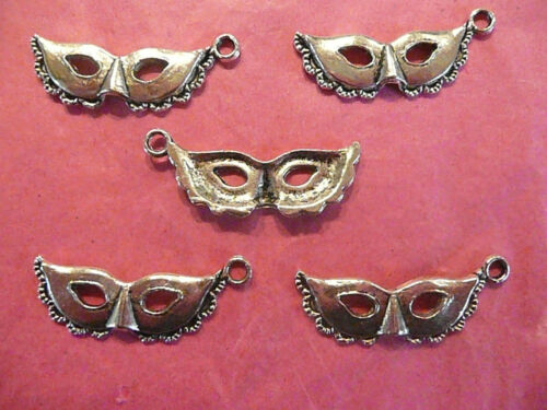 Tibetan Silver Mask Charms pack of 5