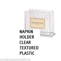 Napkin Holder-clear Textured Plastic