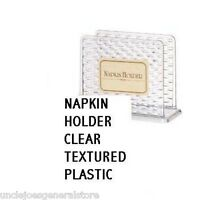 Napkin Holder-clear Textured Plastic