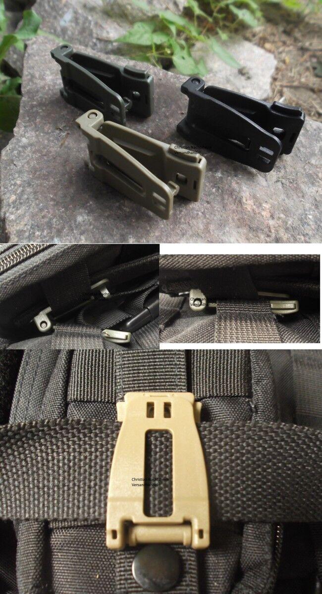 MFH MOLLE Zubehör Adapter Clip mit Gummiband Schlüsselhalter Universalhalter