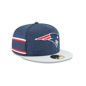 02e898ca301 New Era 59FIFTY NFL new England Patriots 2018 On Field Sideline Hat ...