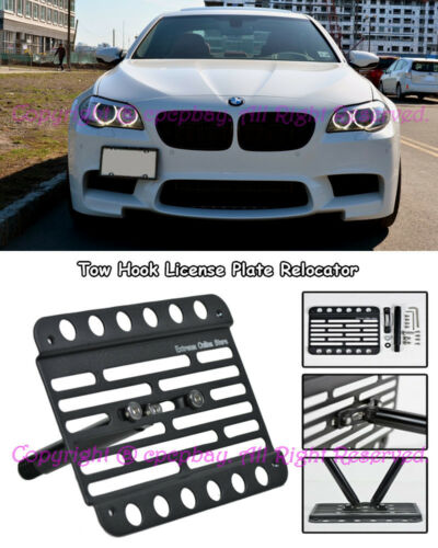Fit 11-15 BMW F10 M5 and M-Sport Tow Hook Mount License Plate Relocator Bracket