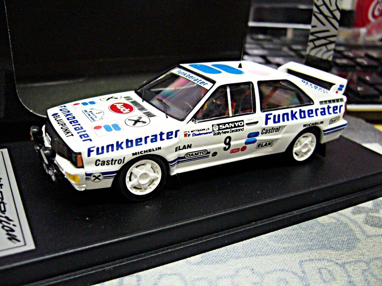 Audi Quattro Rallye Wittmann radio asesor nueva zelanda NZ 1984 1 250 Scala 43 1 43