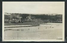 OR Coos Bay RPPC 1950's SAWMILLS ACROSS the BAY by Wesley Andrews No. 4