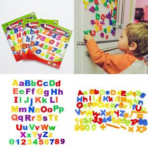 78x-Buchstaben-oder-Zahlen-ABCabc-Magnet-Buchstaben-Set-Alphabet-Kinder-F9E0