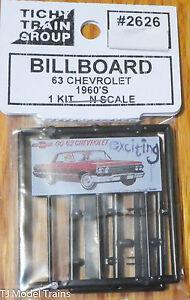 Tichy Train Group #2626 (N Scale) Billboard 63 Chevrolet (1:160th Scale)