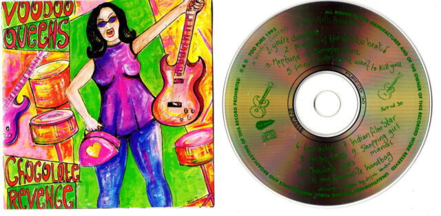 Voodoo Queens - Chocolate Revenge - 1994 CD Album - PURECD30 - PUNK ROCK,GRUNGE