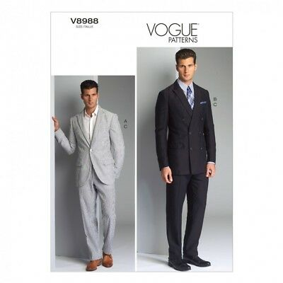 /& Pants ... Vogue Mens Sewing Pattern 8890 Jacket Free UK P/&P Shorts
