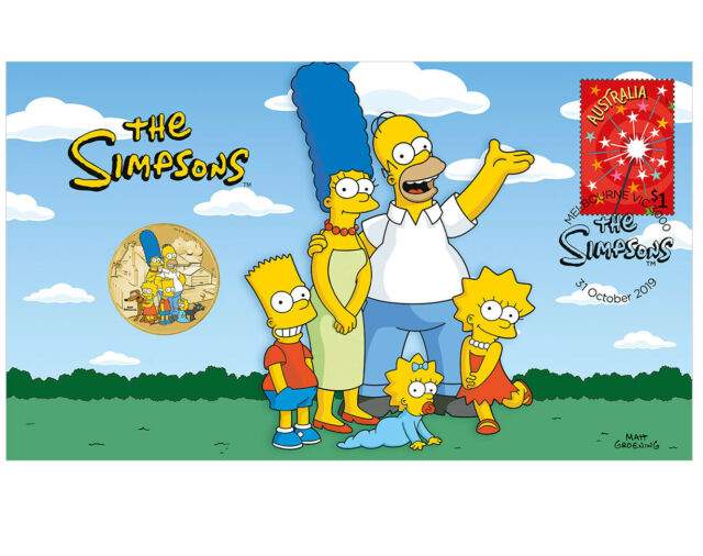 2019 The Simpsons Family Brilliant $1 coin RARE Limited Edition PNC UNC Sold Out