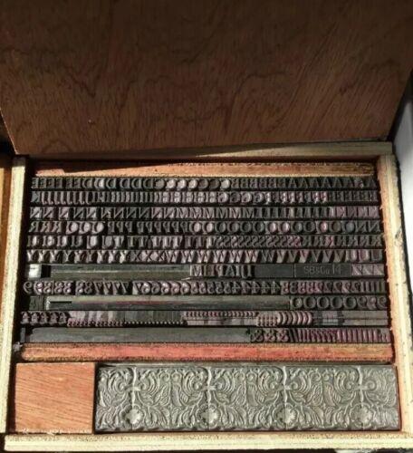 UPPERCASE O Perpetua Print Type 14Pt Metal Letterpress Printers Block CAPITAL O