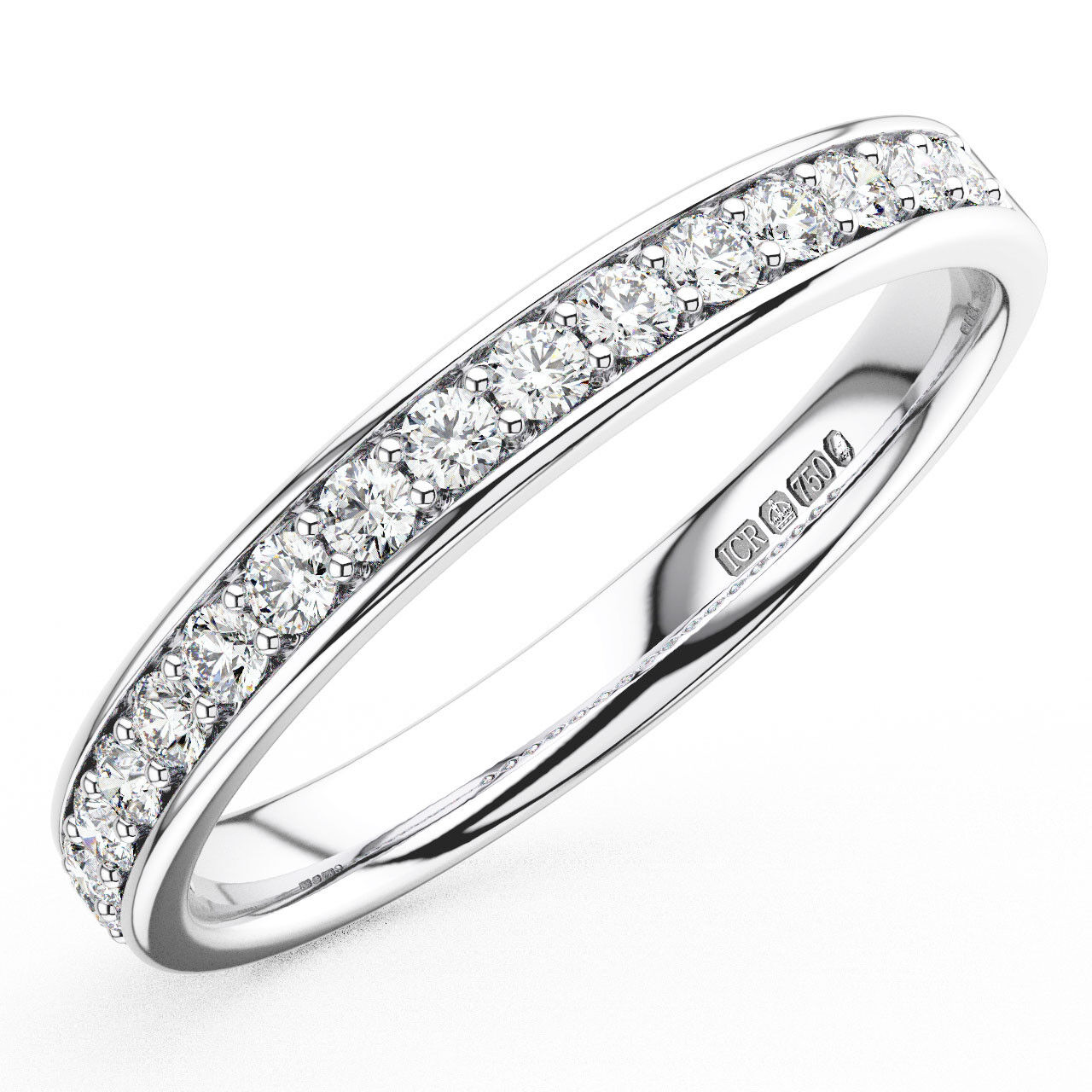 0.25CT Round Brilliant Cut Diamonds Half Eternity Wedding Ring in 950Platinum