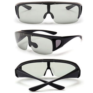 Men Large Polarized Fit Over Flip-up//Lift-up Sunglasses For Myopia Sunglasses