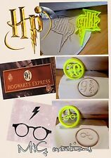Harry Potter 3pcs Cookie Cutter solennemente Mischief 9 3/4 Cupcake topperfondant