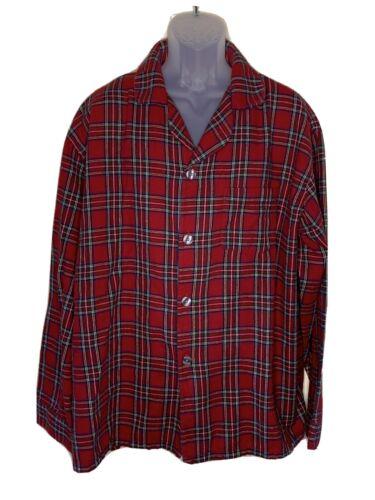 L.L. BEAN Men 2 Pc Plaid Pajama Set XXL Red