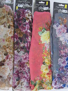 91325 Ladies Scarf Collection Floral Print Scarf 3 Colours Great Price!