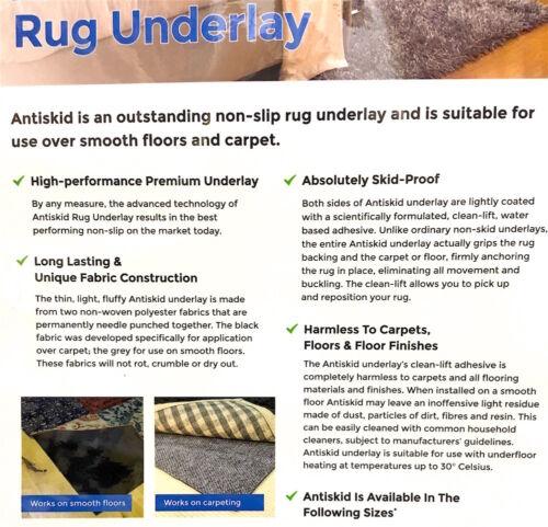 BEST QUALITY RUG TO CARPET GRIPPER ON ALL FLOORS Hall Runner Anti Slip Underlay