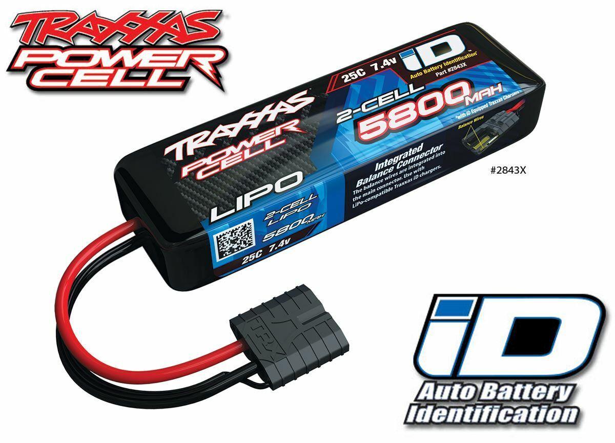 Traxxas 2843X 2S 7.4V 5800mAh 25C  LiPo Battery w iD Connector   Telluride 4X4  marchi di stilisti economici