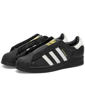 Details about NEW Adidas Superstar Laceless Shoes Black White FV3018 AD Men's Size 8.5 US