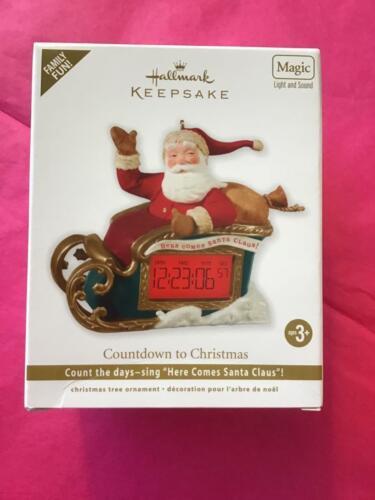 Hallmark Keepsake Ornament 2012 countdown to Christmas Santa sleigh magic light