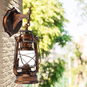 Details About Retro Lantern Antique Vintage Rustic Lamp Wall Sconce Light Fixture Outdoor