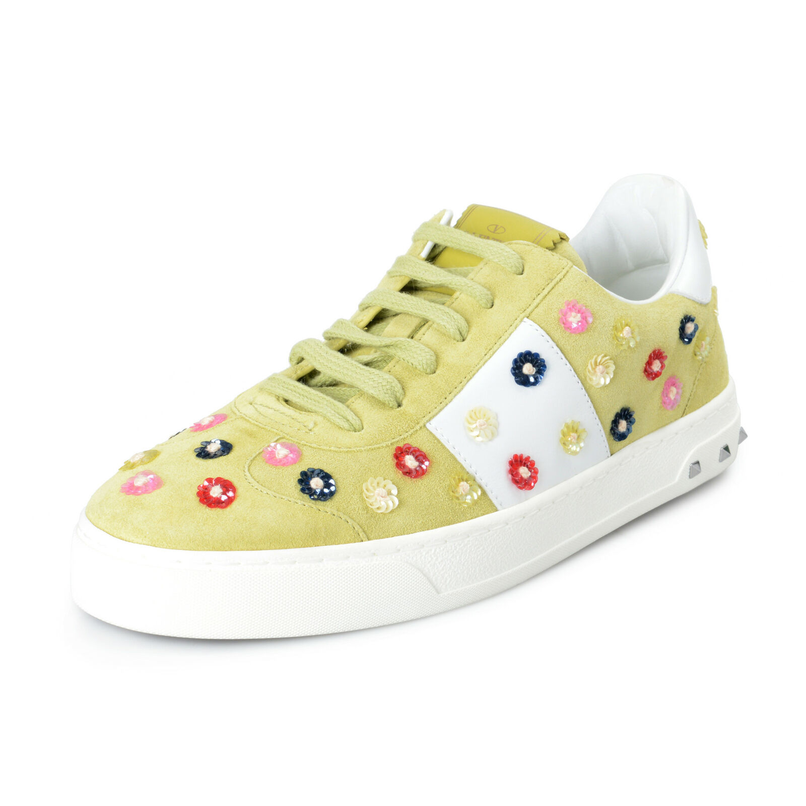 Valentino Garavani Women's Suede Leather Embellished Fashion Sneakers shoes 7 9