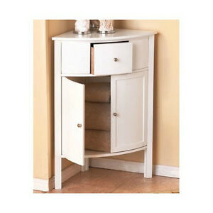 Corner Cabinet Bathroom White Wooden Furniture Cabinets