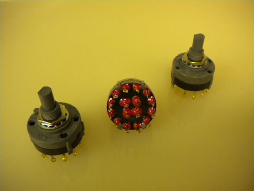 5 PCS Rotary Switch C/&K PN# A403 Hardware Included New!