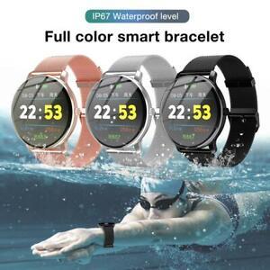Wasserdicht Smartwatch Pulsuhr Blutdruck Armbanduhr Fitness Tracker Phone Use-DE