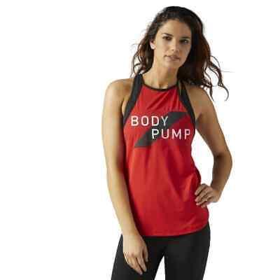 Reebok Women/'s Les Mills Bodypump Tank Primal Red ACTIVCHILL XS