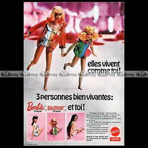 Mattel-Vintage-BARBIE-amp-SKIPPER-1970-Pub-Publicite-Ad-A140
