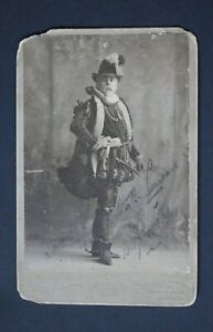 Period Photograph of Broadway Actor Arthur R. Lawrence Signed in Pen, Dated 1894
