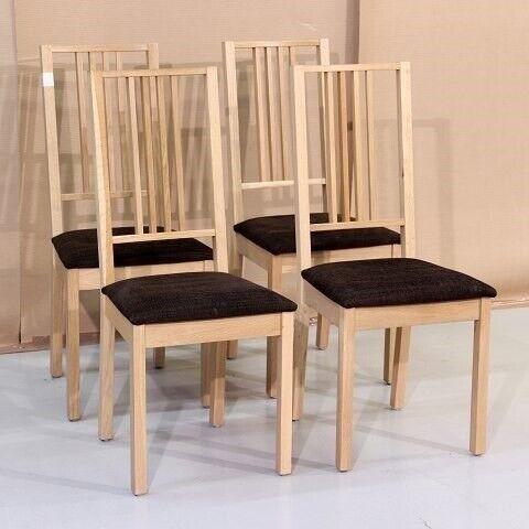Andet, 4 stole i egetræ  - Kr. 300,-