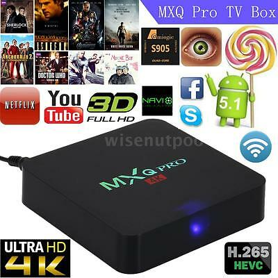 S905X Quad Core Android 6.0 TV Box 4K WIFi Mini PC HD 1080P Smart Media Player