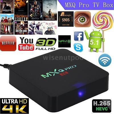 S905X Quad Core Android 6.0 TV Box 4K WIFi Mini PC HD 1080P Smart Media Player