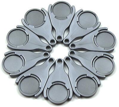 50 - 2000 Einkaufswagen-chiphalter Silbergrau-metallic Incl. Chips Ekw02 Grade Produkte Nach QualitäT