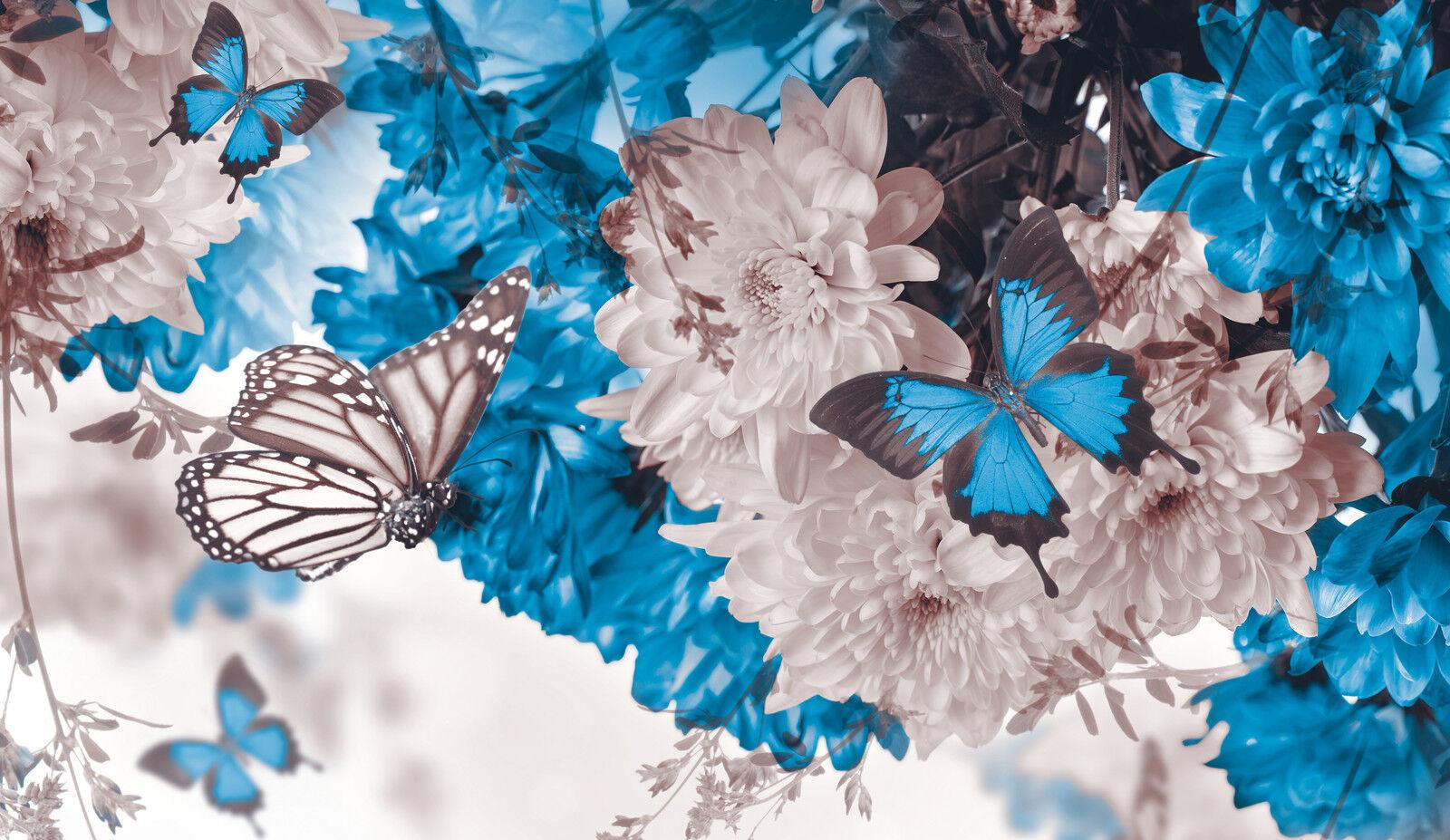Papier peint toile bleu dans la la dans nature-papier peint papiers peints   pour le salon fdb28 cd0417