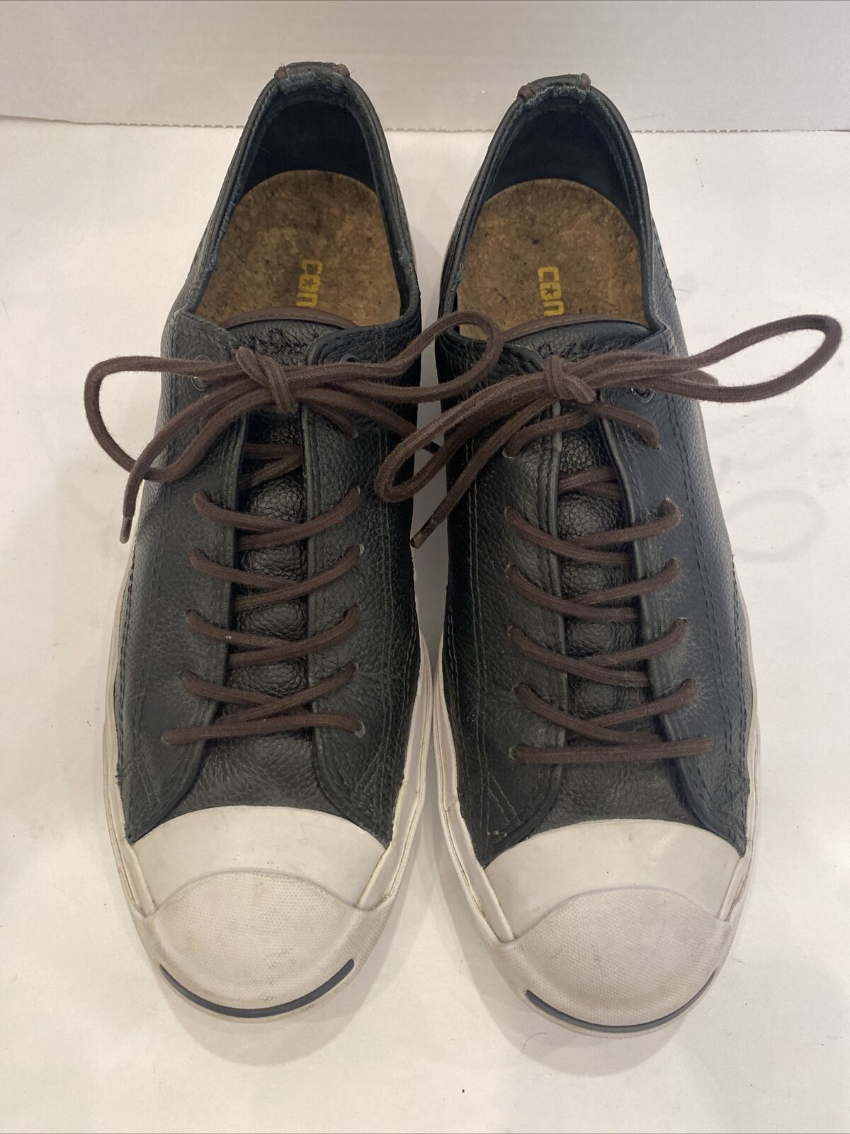 Converse Jack Purcell Tumbled Leather Shoes Oxford Mens Size 10.5 Women's 12
