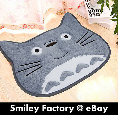 New Super Lovely Totoro Cute Face Plush Anti-Slip Door Pad Floor Pad Mat Gift