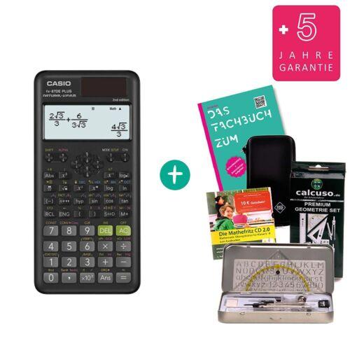 Casio FX-87DE Plus 2 Geometrie-Set Schutztasche Lern-CD Fachbuch Garantie