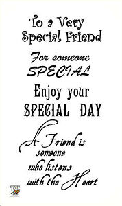 Details about To a Very Special friend ~ Happy Birthday words sentences  clear stamps FLONZ 805