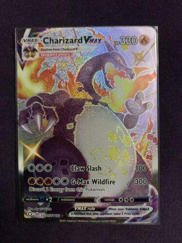 Pokemon Shiny CHARIZARD VMAX - Shining Fates SV107/SV122 NM/Mint - PSA Ready