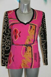 joli-pull-fin-multicolor-femme-Desigual-Taille-L-parfait-etat