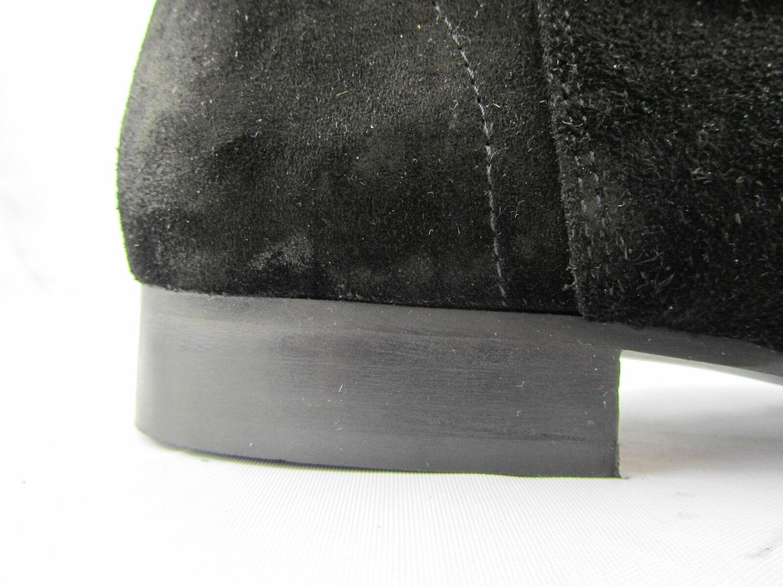 Uomo Retro Lennon HI BEAT neri in Beatle pelle scamosciata tacco Beatle in Stivali a punta FATTO A MANO 905c02