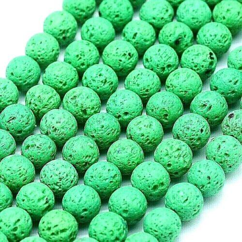 Lava Perlas 6mm Verde X 61 piezas