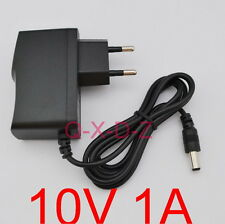 AC 100V-240V Adapter DC 10V 1A Switching power supply 1000mA EU 5.5mm x 2.5mm