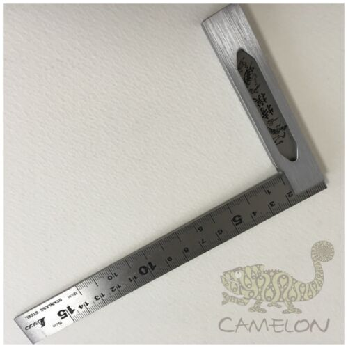 SHINWA PRECISION STAINLESS STEEL CARPENTERS TRY SQUARE 150 X 100MM 62009 JAPAN