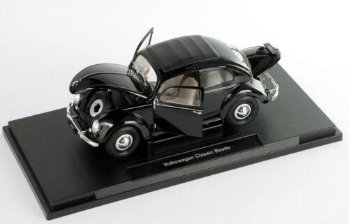 Volkswagen VW Beetle Classic Käfer schwarz black Modell Auto Welly 1:18 NEU  OVP
